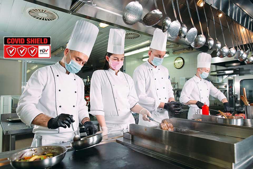 """Πιστοποίηση """"Covid Shield"""" TÜV AUSTRIA Hellas Εστιατόρια"""