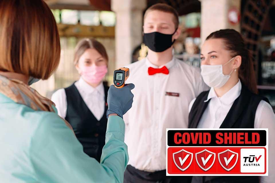 """Πιστοποίηση """"Covid Shield"""" TÜV AUSTRIA Hellas Καφε"""